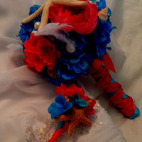 MADE TO ORDER - Starfish Wedding Bouquet- Seashell Bridal Bouquet