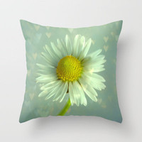 Daisy Love Throw Pillow by Ally Coxon | Society6