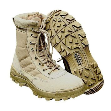 ICIK272 Sport Army Men's Tactical Boots Desert Outdoor Hiking Camping Military Enthusiasts Marine Male Combat Shoes Fishing Waders