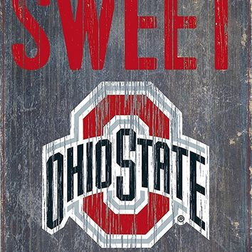 Ohio State Buckeyes Home Sweet Home Premium Wood Sign