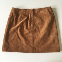 90s old navy suede mini skirt; really flattering; great condition; ...