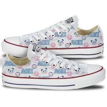 Alpha Omicron Pi Converse Panda Low Top