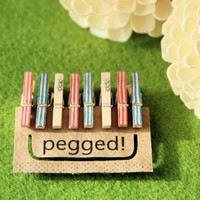 Mini Wooden Pegs in Frosted American Pie - 8 pack