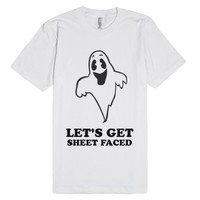 Sheet Faced-Unisex White T-Shirt