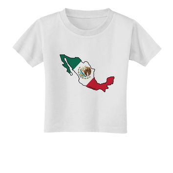 Mexico Outline - Mexican Flag Toddler T-Shirt by TooLoud
