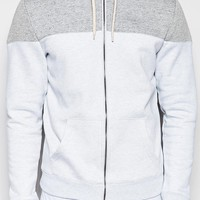 New Look Zip Through Hoodie With Panel Detail In Grey