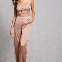 Satin Cami Pant Set
