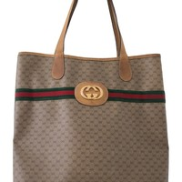 VINTAGE GUCCI MONOGRAM TOTE BAG