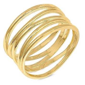 14K Yellow Gold Spiral Ring