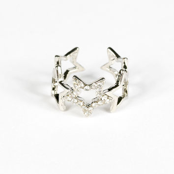Hollow Stars Open-end Ring