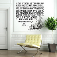 Vinyl Wall Decal Sticker Art I'll Always Be by wordybirdstudios