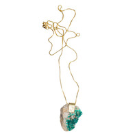 I liked this design on #Fab. Dioptase Necklace