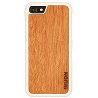 Slim Wooden iPhone Case White
