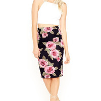 Garden Party Floral Pencil Skirt