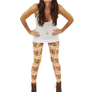Cheeseburger Leggings from Zara Terez