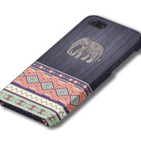 Aztec Elephant Tribal Geometric Wood iPhone Case cover, iPhone 5 Case, iPhone 5s Case, iPhone 4, iPhone 4s Case, iPhone 5c,Samsung Galaxy S4