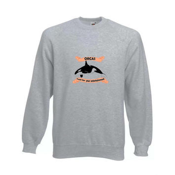 Orcas entertainment sweatshirt save the whales seaworld tumblr