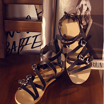 New Summer Lace Up Sandals = 4777190212