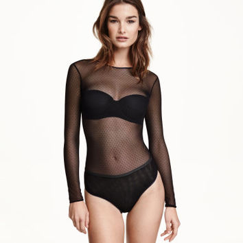 H&M Long-sleeved Mesh Bodysuit $29.99