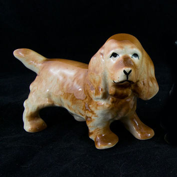 Clumber Spaniel Figurine Dog Figurine Mid Century Japan Collectible
