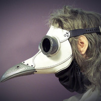 Ichabod Steampunk Plague Doctor Mask in white by TomBanwell