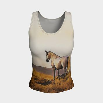 Art To Wear Gray Horse Tank