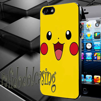 Pikachu Case For iPhone 4/4s, iPhone 5/5S/5C, Samsung S3 i9300, Samsung S4 i9500 *rafidodolcasing*