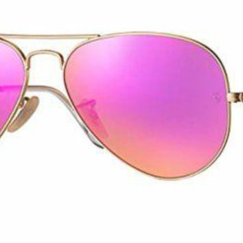Cheap Ray Ban RB3025 112/4T 58M Matte Gold/ Green Mirror Fuxia Aviator outlet