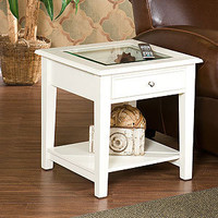 White Display End Table | Living Room Furniture| Furniture | World Market