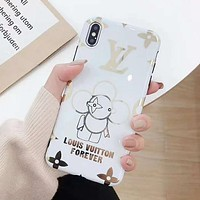 LV Louis Vuitton Fashion Mobile Phone Cover Case For iphone 6 6s 6plus 6s-plus 7 7plus 8 8plus X XsMax XR White