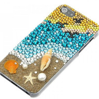 Beach Holiday Rhinestone iPhone 5s 5 Case Cover Handmade