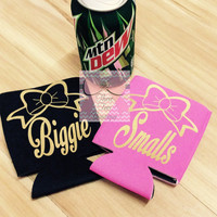Big and Little Metallic Koozie Sorority Metallic Koozie Monogrammed Koozies Monogram Coozie Preppy Monogrammed Koozie Monogrammed Gifts