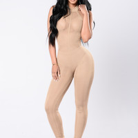 One Way Or Another Jumpsuit - Mocha