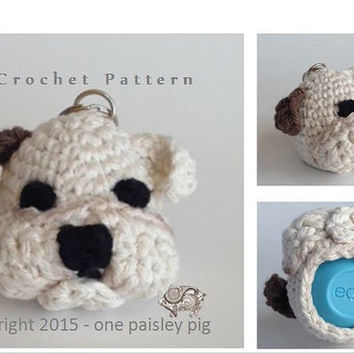 Bulldog eos Lip Balm Holder - PDF CROCHET PATTERN