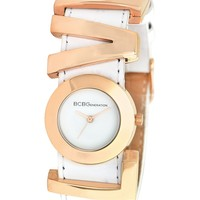 BCBGeneration Watch, Women's Love Charm White Leather Strap 27mm GL4188 - All Watches - Jewelry & Watches - Macy's
