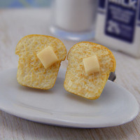 Buttered Toast - Studs / Post Earrings - ON SALE