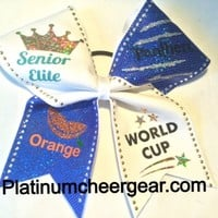 The NEW Fab 4 Bow - Platinum Cheer Gear
