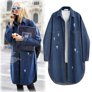 Autumn New Style Large All Matched Turn-down Collar Long Sleeve Solid Color Blouse