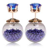 Gum Tee Tribal Earrings - Floating Caviar Royal Blue