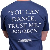 """""""You Can Dance"""" Pocket Tee in Navy by Knot Clothing & Belt Co."""