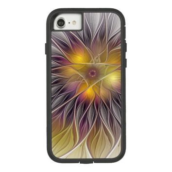 Luminous Colorful Flower, Abstract Modern Fractal Case-Mate Tough Extreme iPhone 8/7 Case