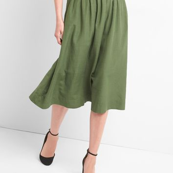 Shirred midi swing skirt | Gap