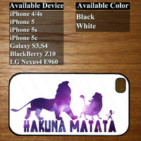 hakuna matata lion king case - for iphone 4/4s, iphone 5, iphone 5s, iphone 5c,galaxy s3,s4, LG Nexus4 E960, BlackBerry Z10