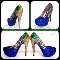 Notre Dame Irish Glitter High Heels