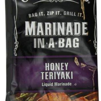 Jack Daniel's Marinade In-A-Bag, Honey Teriyaki, 12 Ounce (Pack of 5)