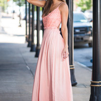 Take My Hand Maxi Dress, Peach