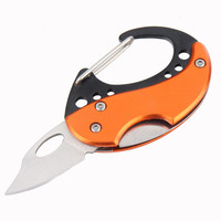 Aluminum Survival Portable Pocket Hook Knives Cutter With Key Ring Microtech Stainless Steel Blade Faca Knife