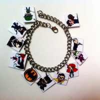 Batman Themed Charm Bracelet