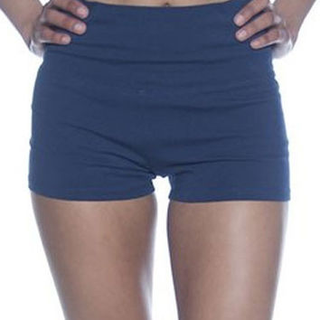 High Waist Cotton Shorts in 10 Colors