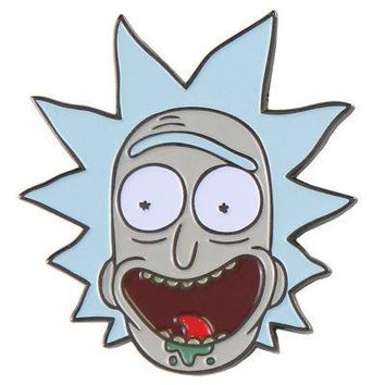 "Rick And Morty Rick's Face 1.75"" Enamel Pin"